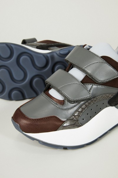 Sneaker 'Eclypse' Braun/Grau