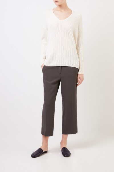 Pants 'Claire' with shortened leg Green