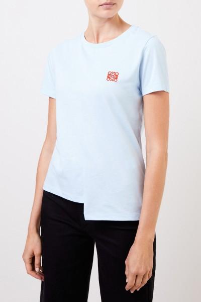 Loewe Baumwoll-Shirt mit Logo Blau