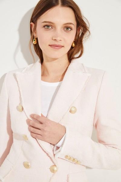 Taillierter Tweed-Blazer Rosé