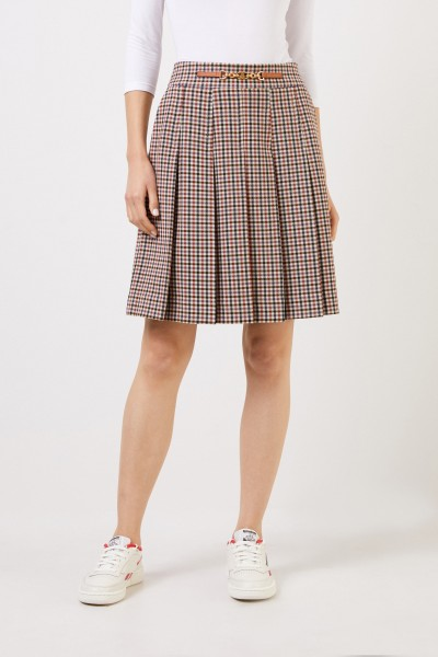 Tory Burch Pleated skirt with check Multi