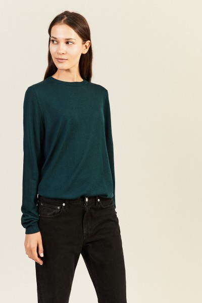 Woll-Pullover Grün