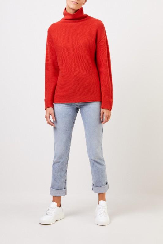 Uzwei Cashmere-Pullover mit Turtleneck Orange