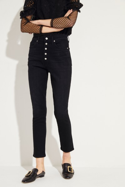 High Rise Jeans 'Olivia' Schwarz