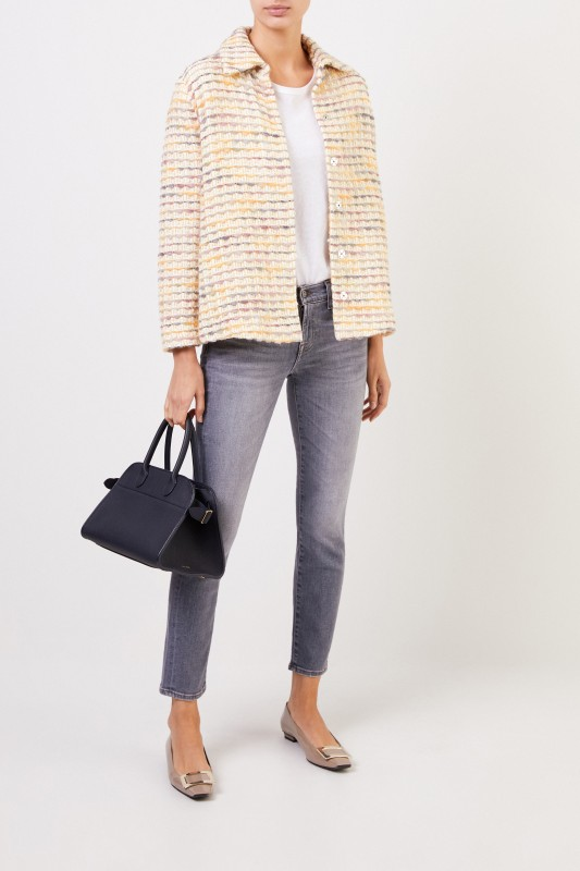 Brock Collection Short jacket with wool portion Multi