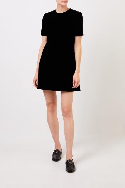 Saint Laurent Klassisches Samt-Kleid Schwarz
