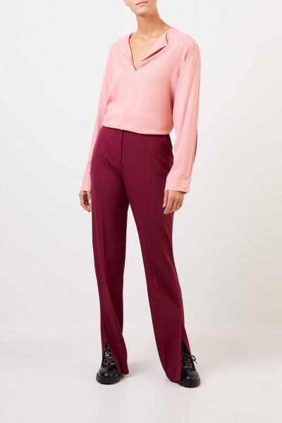 Stella McCartney Blouse with slit sleeves Light Pink