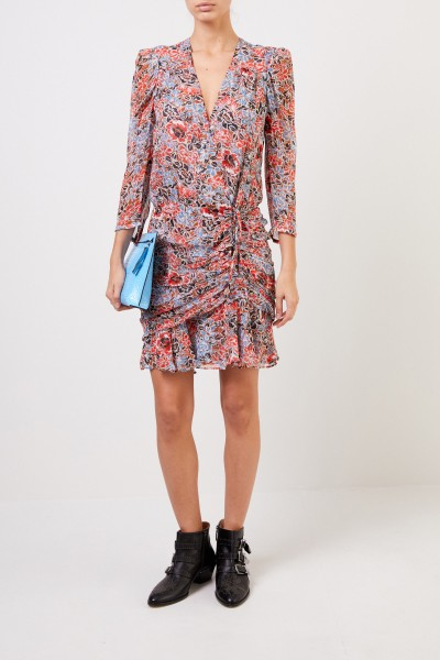 Patterned silk dress 'Maggie' Multi
