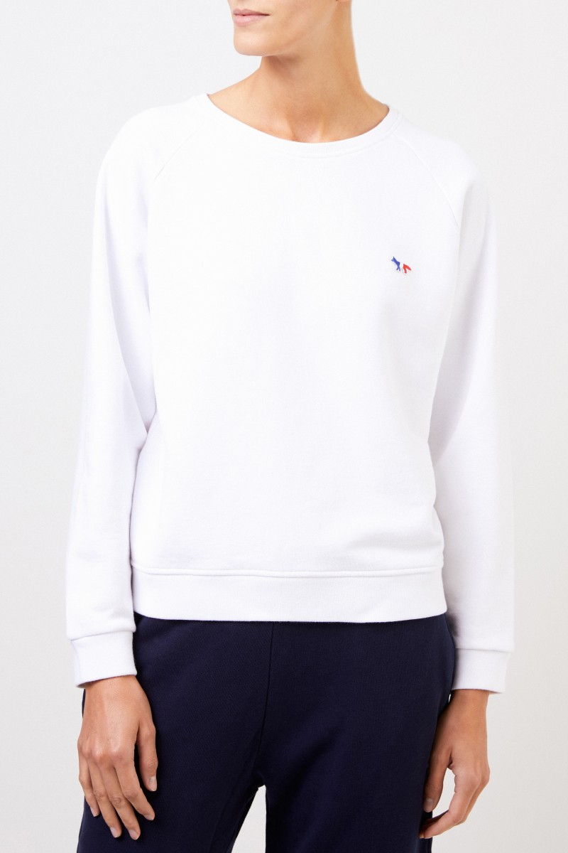 Maison Kitsuné Sweatshirt 'Tricolor Fox' Weiß