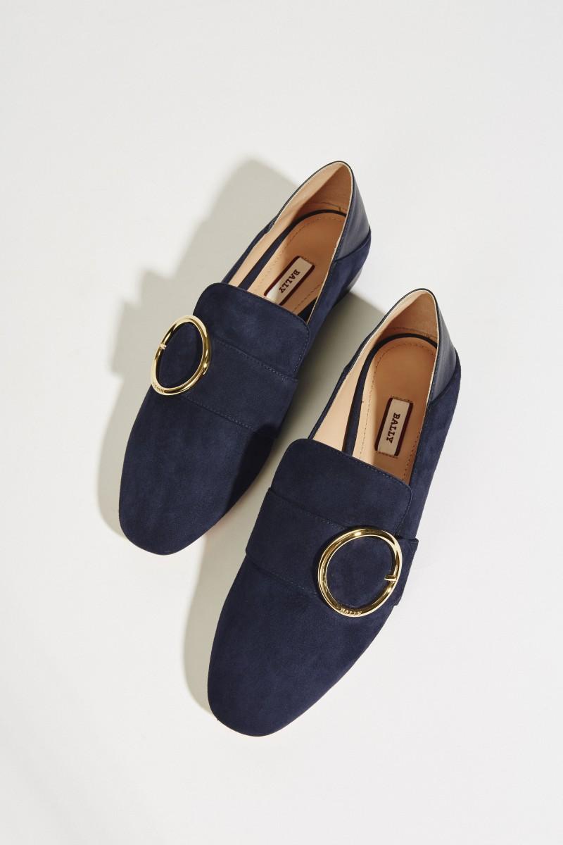 Lederloafer 'Lottie' Marineblau