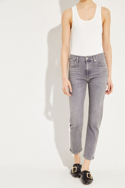 Ankle High Rise Slim 'Harlow' Grau
