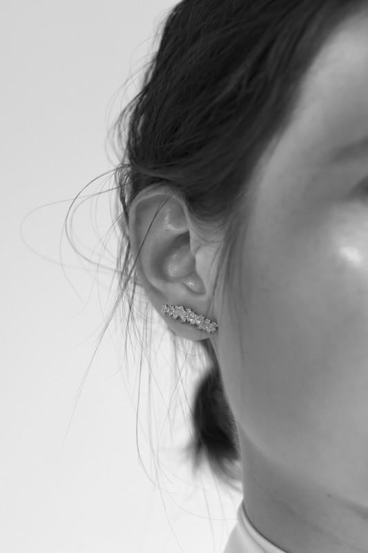 Ohrring 'Mirian' mit Diamanten Gold