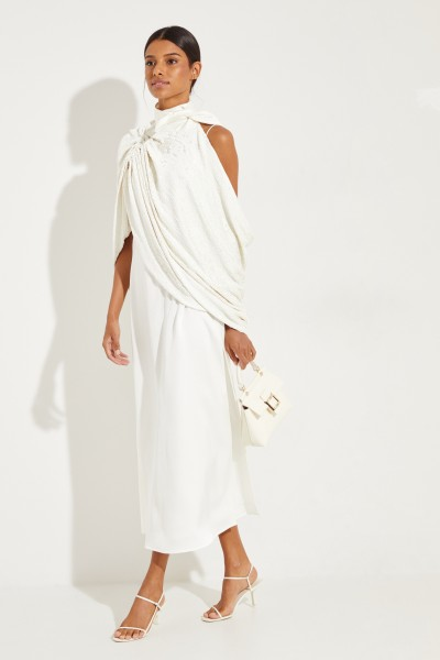 Magda Butrym Cape 'Medford' with sequins White