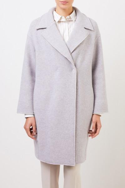 Bruno Manetti Classic wool coat Light Grey
