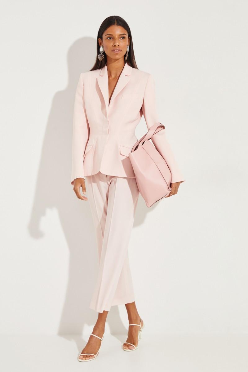 Taillierter Woll-Blazer Rosé