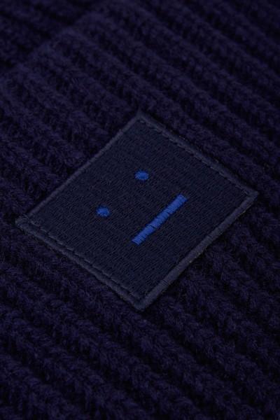 Acne Studios Mütze 'Pansy N Face' Marineblau
