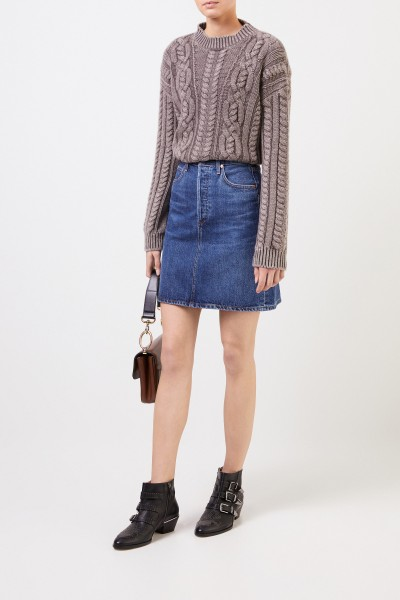 Midi denim skirt 'Lorelle' Blue
