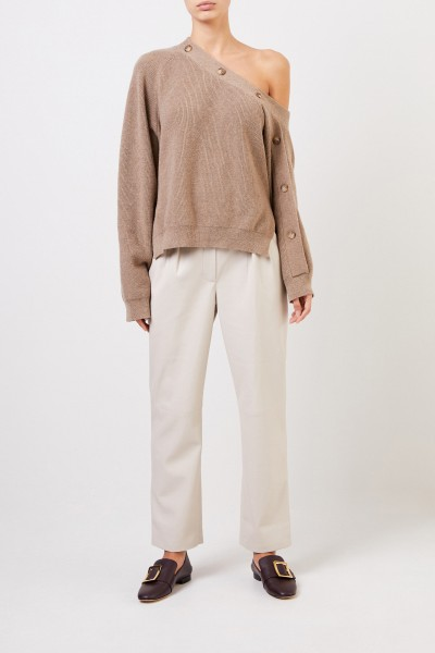 One-Shoulder Pullover 'Camerin' Taupe