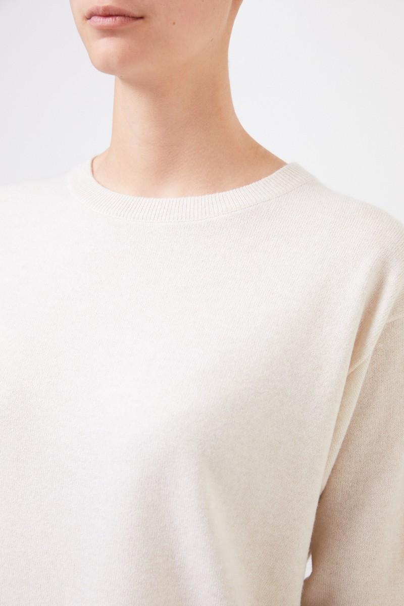 Brunello Cucinelli Klassischer Cashmere-Pullover Beige
