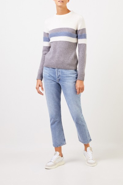Uzwei Cashmere pullover in colorblock Multi/Mid Blue