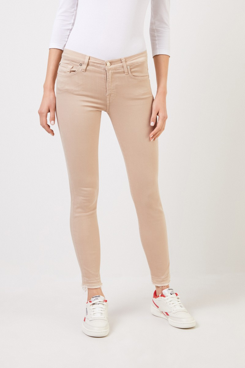 Skinny Jeans 'Skinny Cropoped' Beige