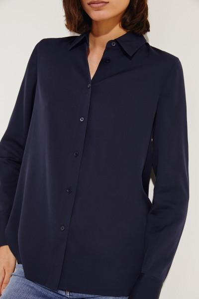 Seiden-Bluse Blau