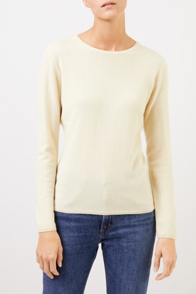 Uzwei Cashmere-Pullover mit R-Neck Hellgelb