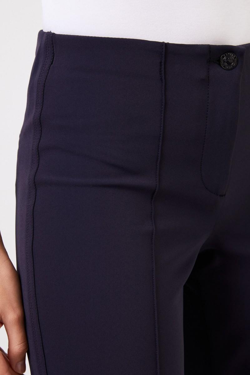 Elastische Hose 'Ros Straight Long' Marineblau