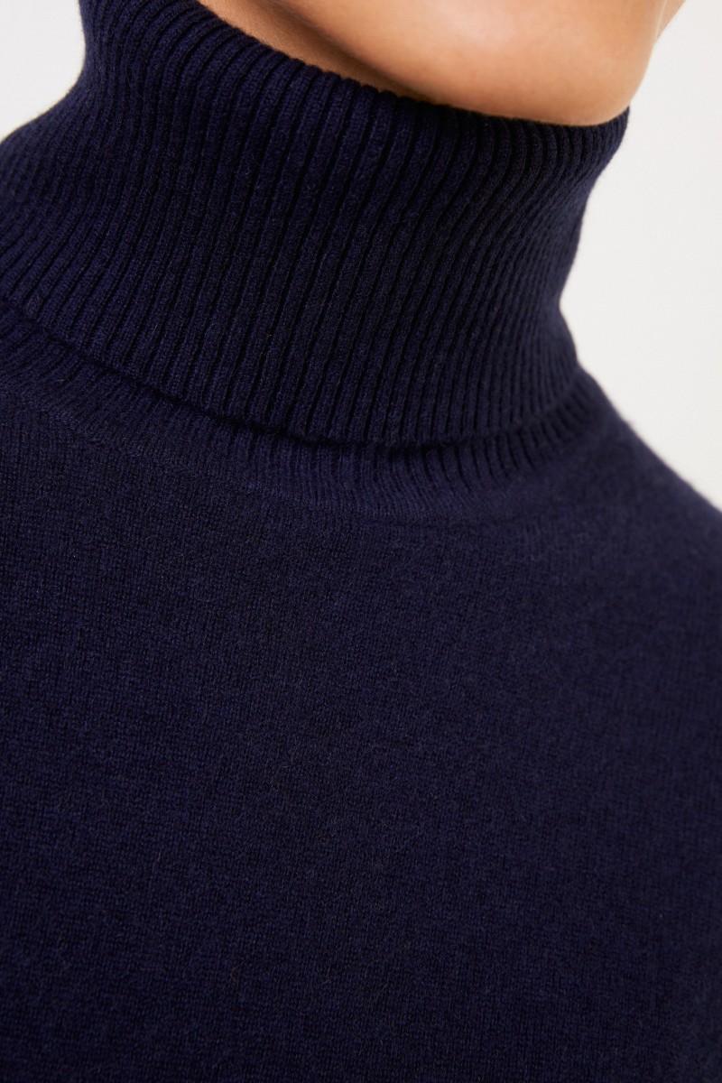 UZWEI Cashmere-Rollkragenpullover Marineblau