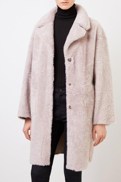Benedetta Novi Reversible lambskin coat 'Mila' Beige