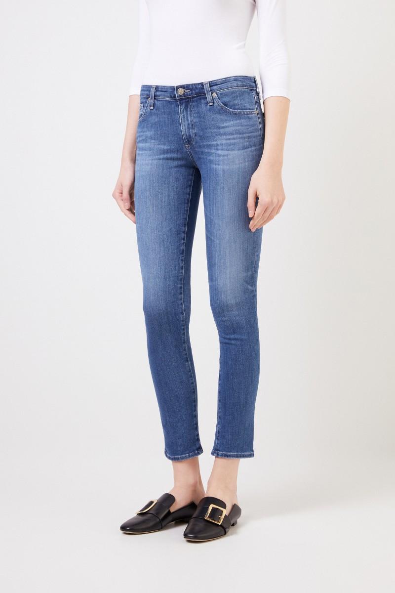 AG Jeans Skinny Jeans 'The Prima' Hellblau
