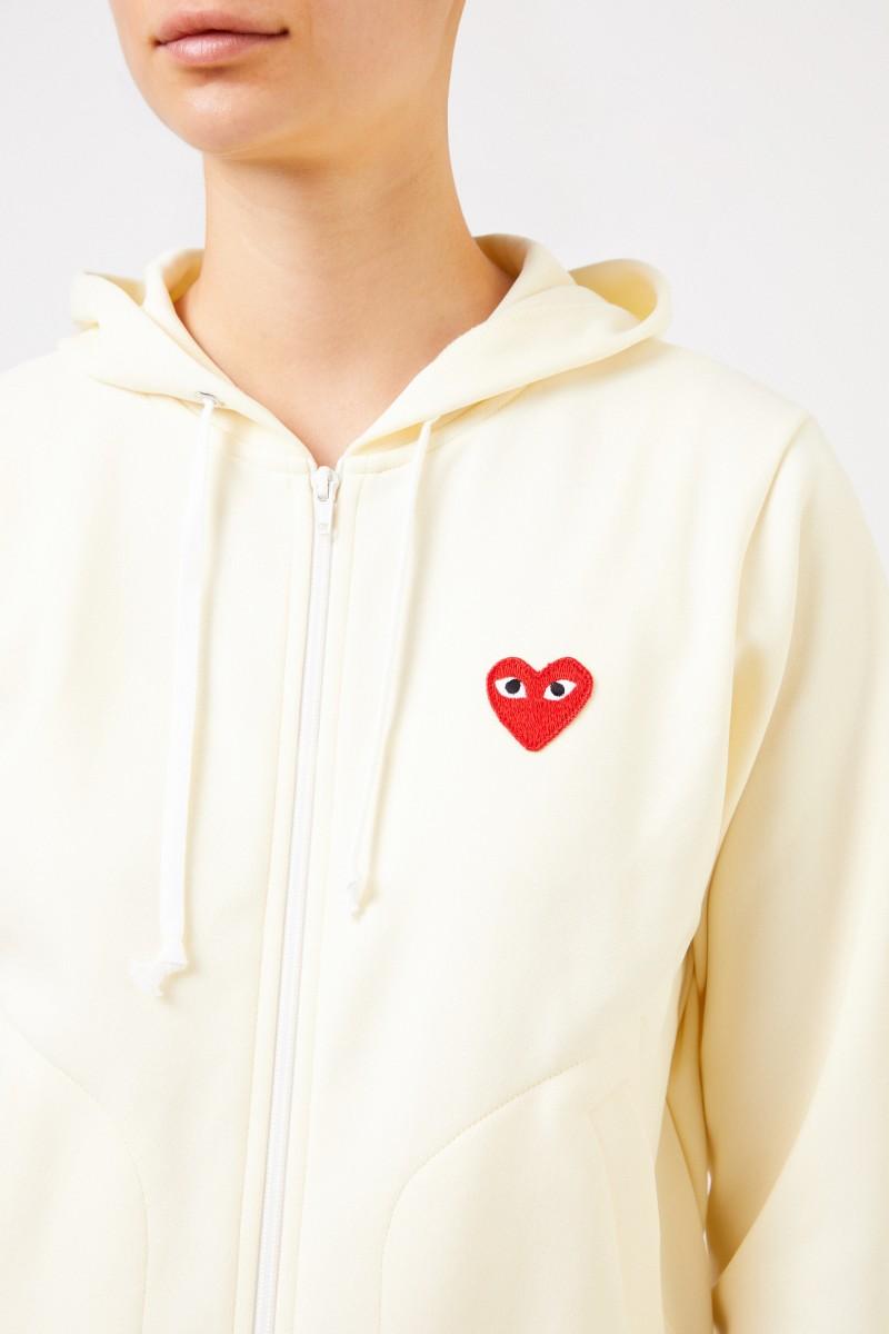 Comme des Garcons Play Sweatjacke mit Herz-Emblem Gelb