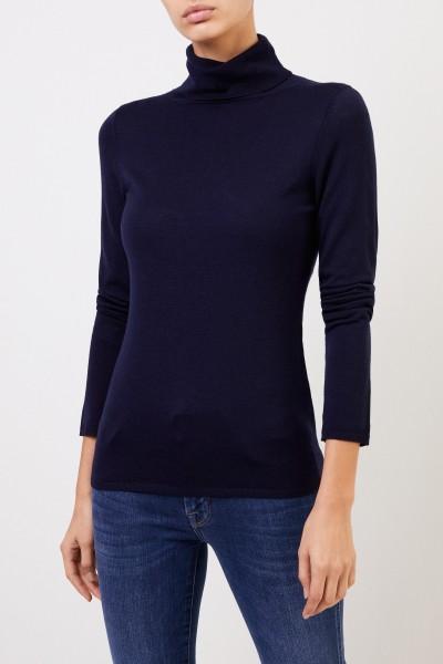 Allude Woll-Pullover mit Turtleneck Marineblau