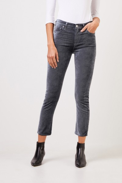 Citizens of Humanity Highrise Velvet Pants 'Harlow' Sage