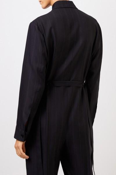 Stella McCartney Wool jumpsuit with pinstripe Black
