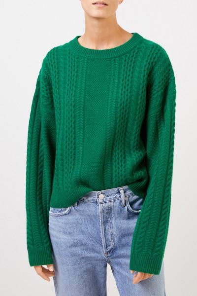 Uzwei Cashmere-Pullover mit Zopfmuster Grün