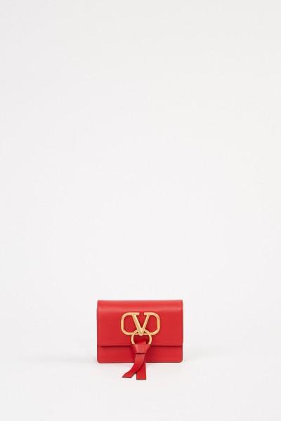 Valentino Pochette VRING mit Kettenriemen Rot