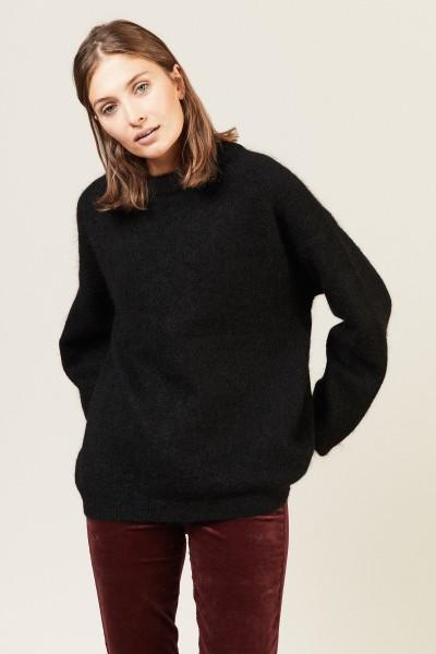 Oversize Mohair-Pullover 'Dramatic Moh' Schwarz