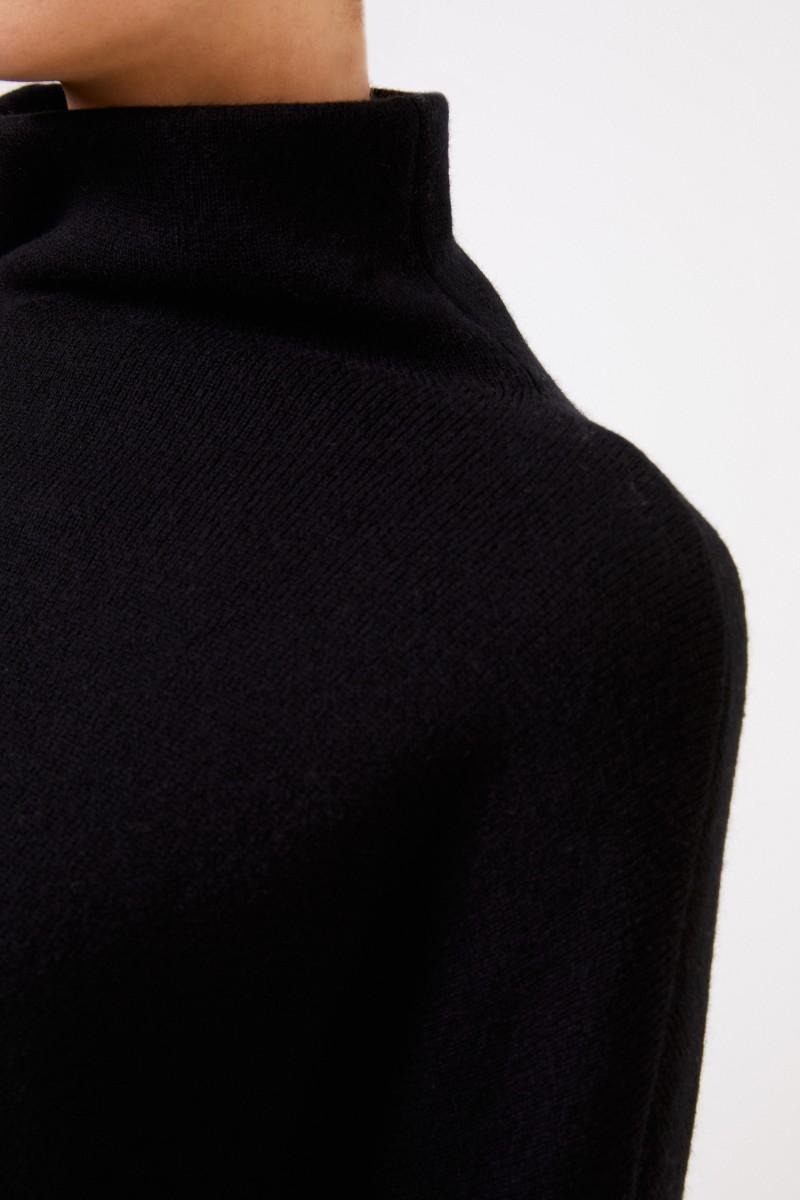Vince Woll-Pullover Schwarz