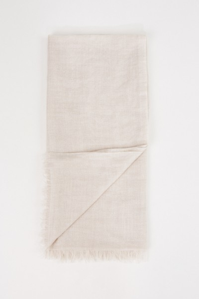 Brunello Cucinelli Cashmere-silk-scarf with sequin details Beige