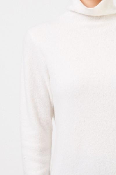 Allude Cashmere-Sweater turtleneck in cream