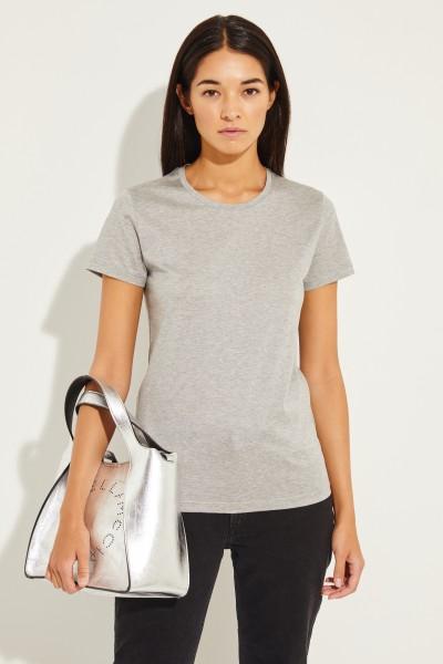 T-Shirt mit Logo Patch Grau
