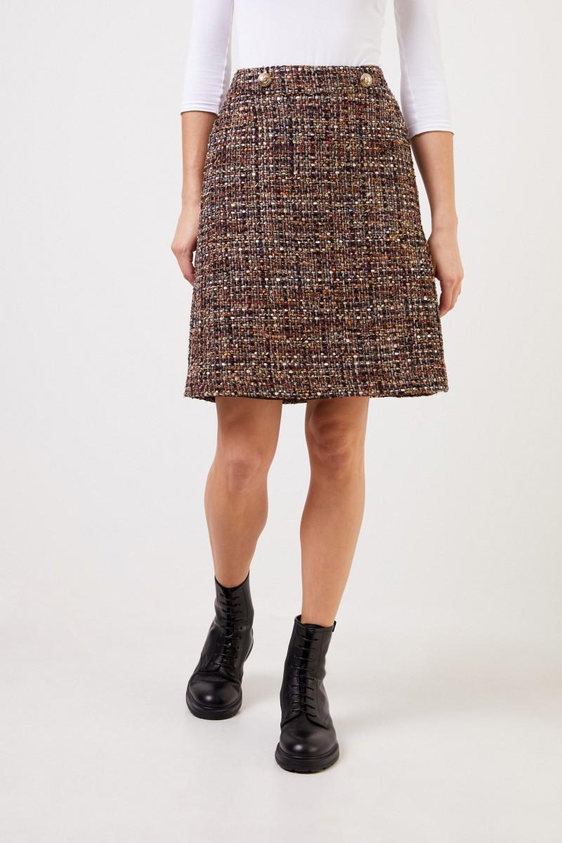 NUSCO 2107 Woll-Tweed Rock Braun/Multi
