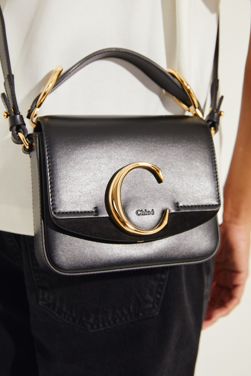 Tasche 'Chloé C Mini' Schwarz