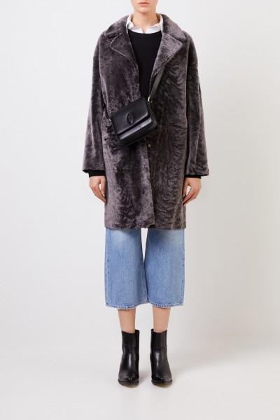 Reversible lambskin coat 'Mila Astracan' Antracite