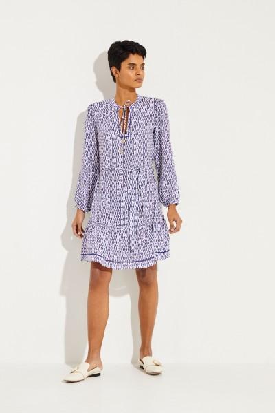 Gemustertes Kleid ' Bianca' Blau/Weiß