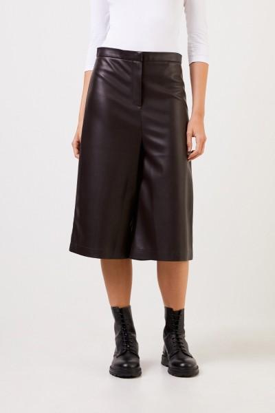 Ochi Imitation leather trousers Dark Brown