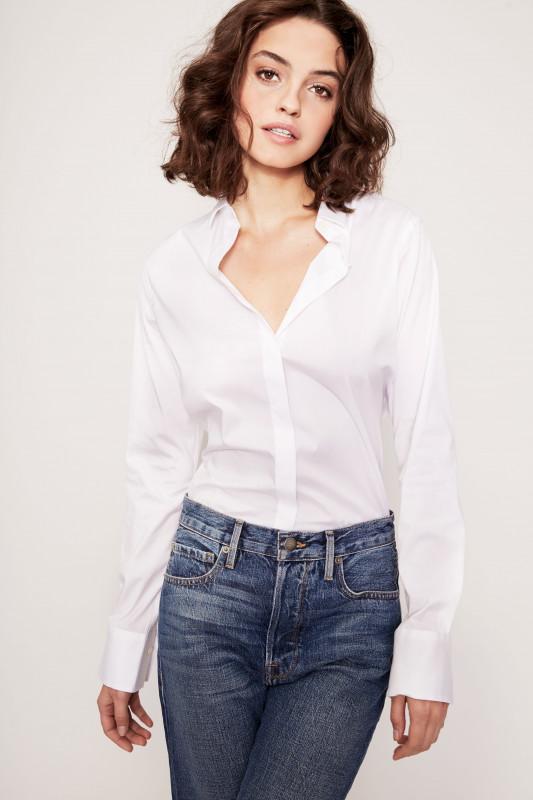 Uzwei Klassische Bluse Weiß
