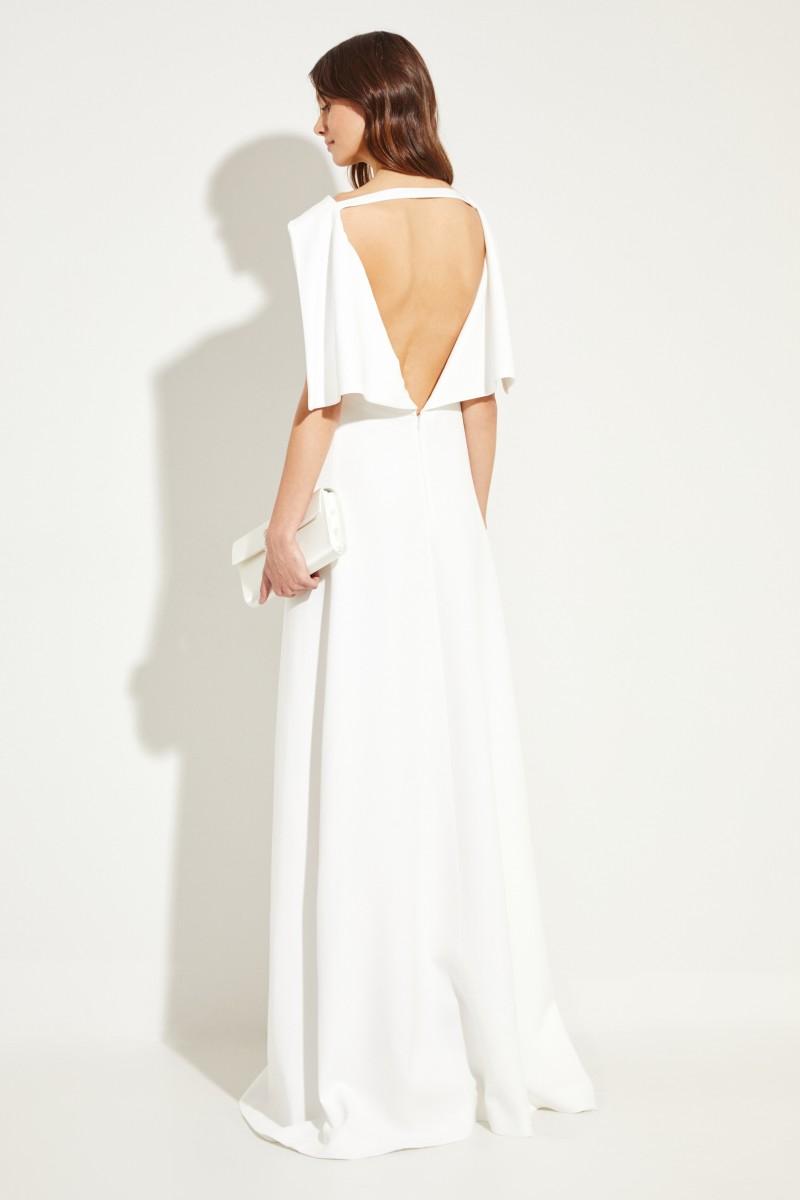 Brautkleid mit Rückenausschnitt Weiß
