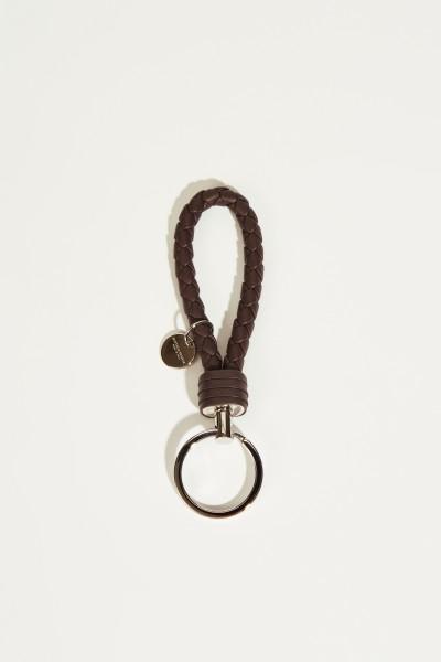 Geflochtener Schlüsselanhänger Braun